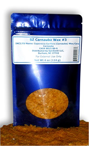 SZ Carnauba Wax #3, 4 oz. To Use in Homemade Sugar Scrub, Soap, Carwax, Leather Care Recipes and Other Craft (Homemade Halloween Masks)