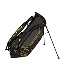 Cobra Tour crown stand bag (6.0 lbs) collaboration with vessel. Tour validated stand bag featuring 4-way top with full length dividers, oversized Apparel pocket, fleece lined valuables pocket with lockable feature, insulated beverage pocket, ...