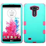 Insten Teal Green/Electric Pink TUFF Hybrid Hard Shockproof Silicone Dual Layer Protective Case Cover For LG G...