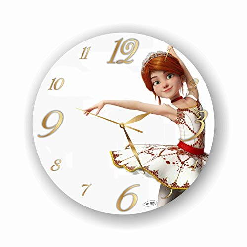 - ART TIME PRODUCTION Ballerina 11'' Handmade Wall Clock - Get Unique décor for Home or Office - Best Gift Ideas for Kids, Friends, Parents and Your Soul Mates