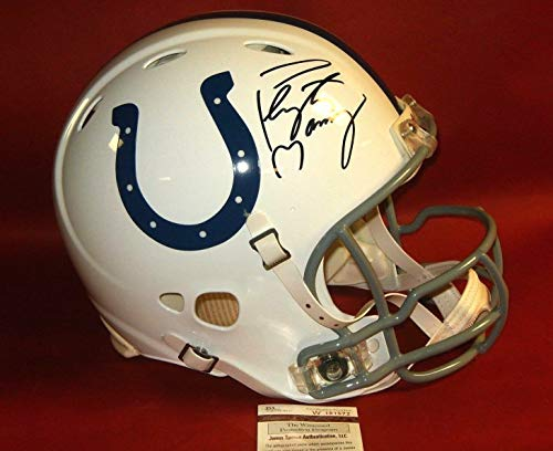 Peyton Manning Autographed Signed Indianapolis Colts Fs Authentic Revolution Helmet Memorabilia - JSA Authentic