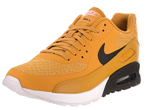 NIKE Women's Air Max 90 Ultra 2.0 Gold Dart/Black/White Running Shoe 8.5 Women US by NIKE