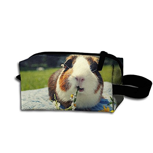 Makeup Cosmetic Bag Guinea Pigs Funny Pattern Zip Travel Portable Storage Pouch For Mens Womens