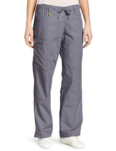 WonderWink Women's Scrubs  Cargo Pant, Pewter, 2X/Tall