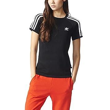 adidas 3 Str Sandra Tee Camiseta, Mujer, Negro, 34: Amazon.es: Deportes y aire libre