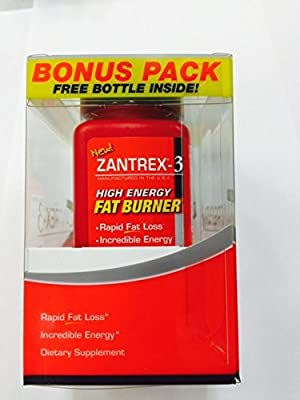 Zantrex-3 2/36 Count Bottles Fat Burner High Energy