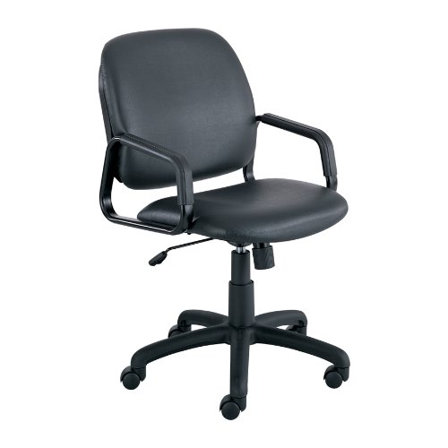 Safco 7045BV Cava Urth High Back Task Chair, Black Vinyl