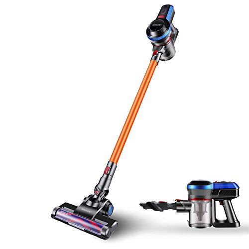 SPECILITE Cordless Stick Vacuum Cleaner & LED Power Brush,17KPa Powerful Cleaning 2 in 1 Handheld Upright Vacuum for Home and Car Cleaning & Wall-Mount