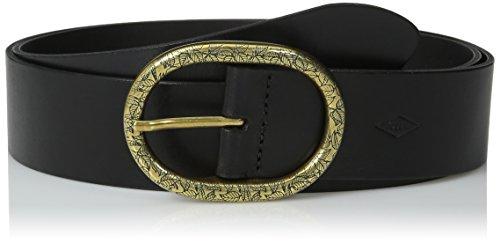 Fossil Women's Vintage Oval Buckle Belt, Black, Medium