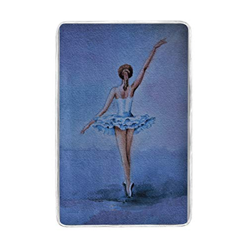 Ballerina Nap Mat - MOFEIYUE Ballerina Pattern Throw Blanket Soft Warm Microfiber Bed Couch Blankets Adult Girls Boys Kids 60 x 90 in