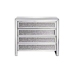Elegant Decor Modern Crystal Cabinet