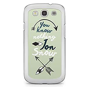Game of thrones Samsung Galaxy S3 Transparent Edge Case - Know nothing Jon Sno