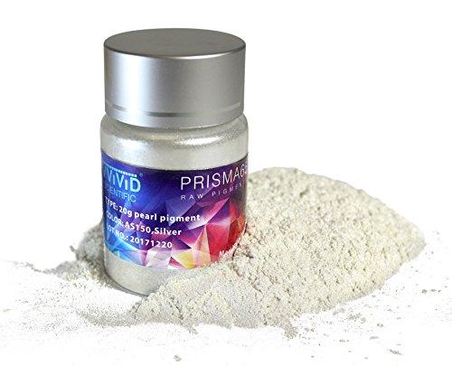 Pigment Silver Metallic Pearl Powder 20g Jar (Metallic Pearl Sparkle)