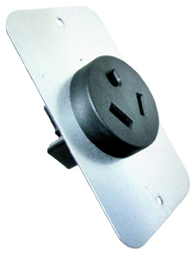 Conntek 80303 Straight Blade Flash Mount Receptacle, 20-Amp 277-Volt NEMA 7-20R -