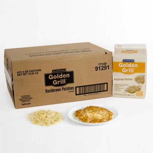 Golden Grill Hashbrown Potatoes -- 6 Case 2.34 Pound by Basic American Foods