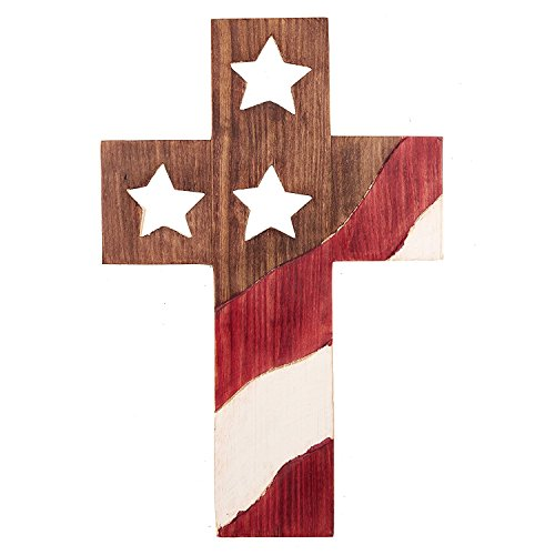 Decorative Crucifix Wooden Wall Cross Art Plaque Handmade for Home Decor 12