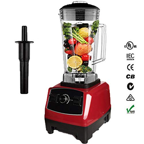 BPA free 2200W Heavy Duty Commercial Professional Mixer Food Processor Japan Blade Juicer Ice Smoothie Machine,Red,UK Plug (Best Smoothie Maker Uk)