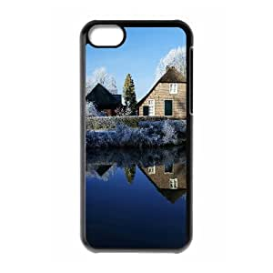 Okaycosama Funny IPhone 5C Cases City 55 for Women, Iphone 5c Cases for Girls with Designs, {Black}