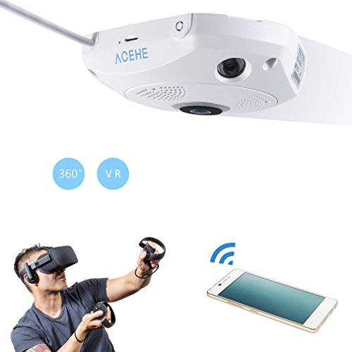 3D VR Camera 360 Degree Panoramic Wireless Wifi Camera IP Camera 960P 1.3MP Video Surveillance Security Camera by LESHP