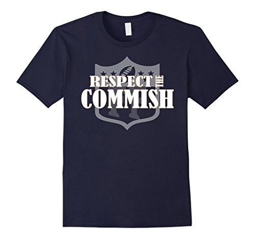 ll Shirt Respect the Commish Commissioner Medium Navy (Football 123)