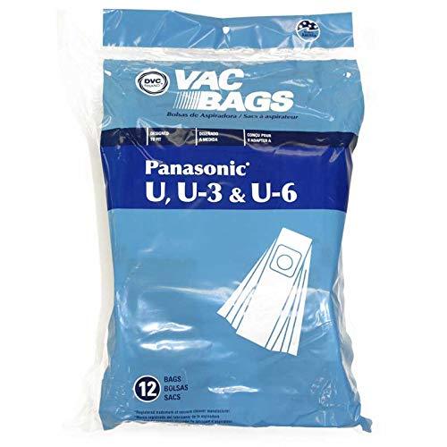 TVP Paquete de 12 Bolsas para Panasonic aspiradora Tipo U, U ...