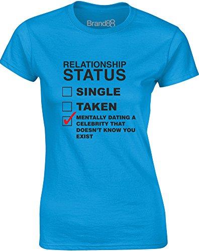 Brand88 - Mentally Dating A Celebrity..., Gedruckt Frauen T-Shirt:  Amazon.de: Bekleidung