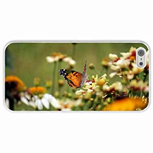 Personalized Apple iPhone 5 5S Back Diy PC Hard Shell Case Butterfly White