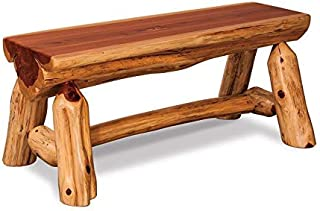 product image for DutchCrafters American Made Rustic Cedar Half Log Bench (54'')