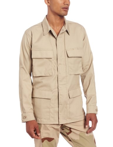 Propper Men's BDU Coat, Khaki, Small Short (Khaki Bdu Jacket)