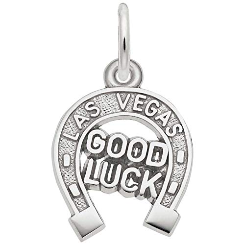 Rembrandt Charms Las Vegas Good Luck Charm, Sterling Silver ()