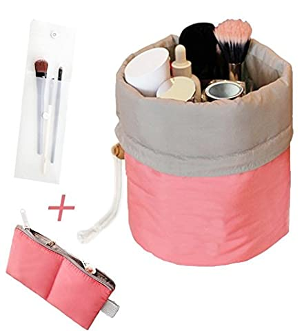 Travel Makeup Toiletry Bathroom bag - Mr.Pro Waterproof Travel Kit Organizer Cosmetic Bag Carry On Case Toiletry Bag (Cylinder (Travel Set)