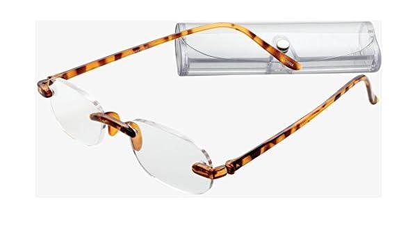 733ab0e258b3 Amazon.com   ICU Eyewear Reading Glasses Reading Glasses - 1058 Rimless Oval  Gel Temples Tortoise     Beauty