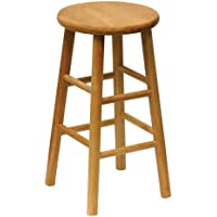 Winsome Wood 24-Inch Beveled Seat Barstool with Natural Finish, Set of 2