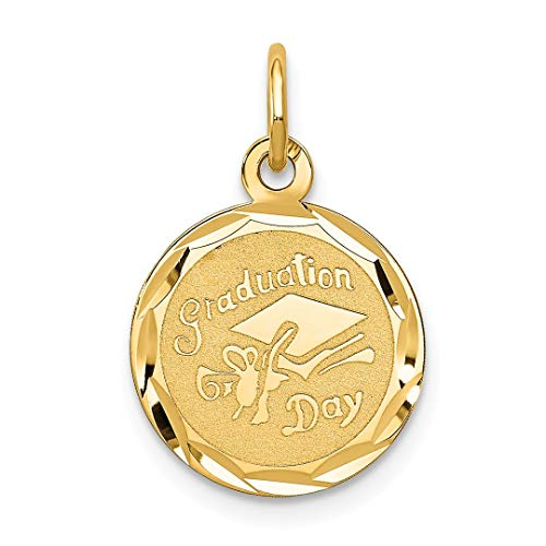 14k Yellow Gold Graduation Cap Pendant Charm Necklace Special Day Fine Jewelry Gifts For Women For Her ()