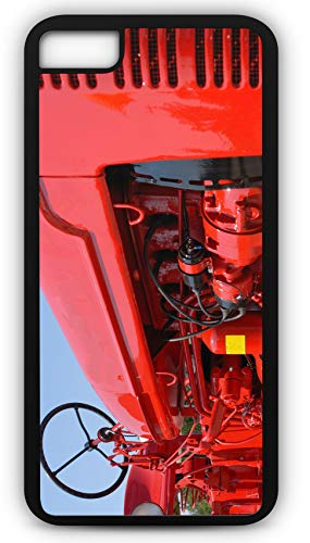 (iPhone 6s Case Farmall Red Tractor Grill Equipment Customizable by TYD Designs in Black Plastic Black Rubber Tough Case)