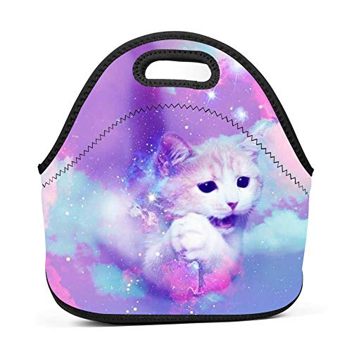 QUANUIJHG Unnamed Lunch Bag Insulated Reusable Neoprene School Picnic Lunch Box Waterproof Tote Bento Bag with Zippe Handbag for Men, Women, Adults, Kids, Girls, Boys