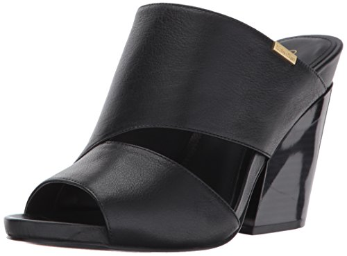 Calvin Klein Women's EFA Wedge Sandal, Black, 8.5 Medium US