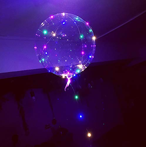 4 Pack 18 Inch Colorful LED Balloons Lasts 12-24 Hours Great For Party Birthday Decorations, Halloween Party in the Dark -