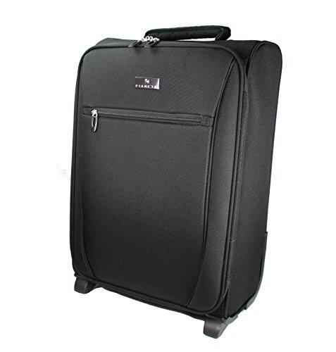 Pianeta baule, valigia, trolley da viaggio, bagaglio per il viaggio, bagaglio a mano (nero L)