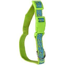 Fancy Pets Collar Nylon con Liston Bordado, Gde