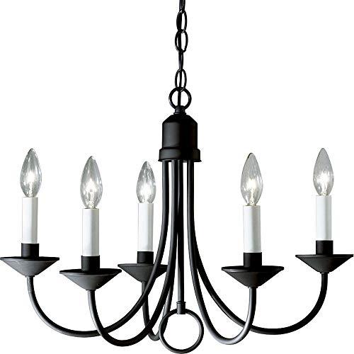 Progress Lighting P4008-31 5-Light Chandelier, Textured Black ()