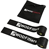 WODFitters Floss Bands for Muscle Compression Tack & Flossing, Mobility & Recovery WODs - 2 Pack with Carrying Case, Lifetime Warranty, Free User eGuide * Improve Muscle Movement, Increase Circulation, & Warm Muscles. Floss Bands Increase Muscle Compression & Reduce Soreness After Intense Workouts. Designed To Enhance Your Athletic Performance While Reducing Injury