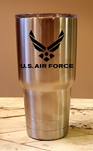 Personalized YETI 30 oz. Tumbler US Air Force CUSTOM Laser Engraved