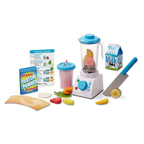 Melissa & Doug Smoothie Maker Blender Set (Helps Develop Motor and Social Skills, 24 Pieces) (Blenders Smoothie Maker)
