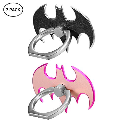 Batman Cell Phone Ring Holder, Cute 360 Degree Rotation Phone Kickstand Ring, Swivel Phone Finger Ring Stand Compatible for iPhone Xs Max/XS/XR (2 - Of Ring Batman