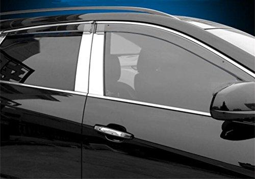 Vesul Updated Side Window Visor Rain Sun Deflectors Guard Vent Shade Compatible with Cadillac SRX 2010 2011 2012 2013 2014 2015 2016 from Vesul
