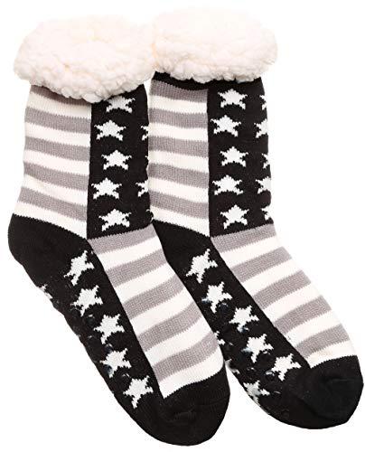 MIRMARU Womens Winter Thick Warm Soft Fuzzy Fleece Lined Non Skid Slipper socks