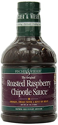 Fischer & Wieser Razzpotle Roasted Raspberry Chipotle Sauce, Value 2 Pack ( 40-Ounce Each ) (Sauce Raspberry Roasted)