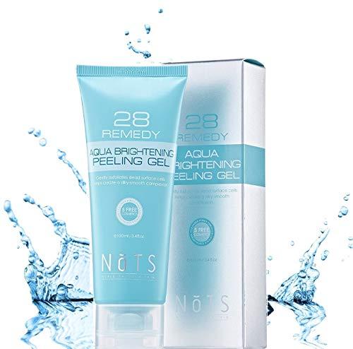 NOTS 28 Remedy Aqua Brightening Peeling Gel with Papain, Collagen, skin smoothing, moisturizing, rejuvenating restoration facial for sensitive skin