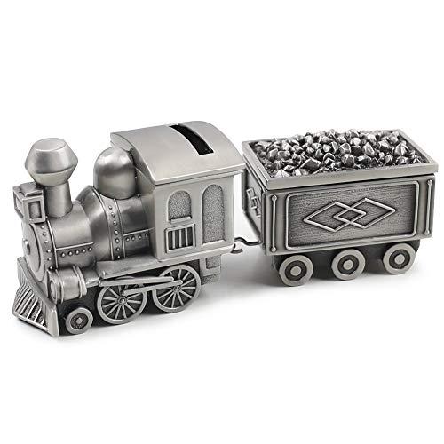 Amor Vintage Metal Train Coin Bank Creative Train Shaped Money Saving Bank Piggy Bank Jewelry Box